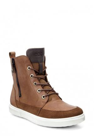 Ботинки CADEN ECCO. Цвет: коричневый