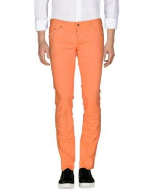 Джинсовые брюки DSQUARED2. Цвет: лососево-розовый