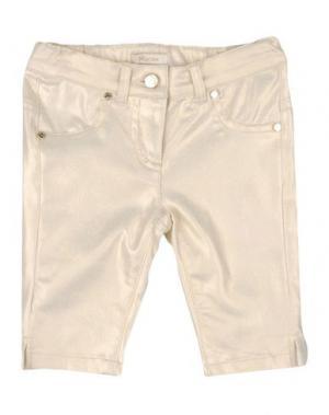 Повседневные брюки MICROBE. Цвет: золотистый