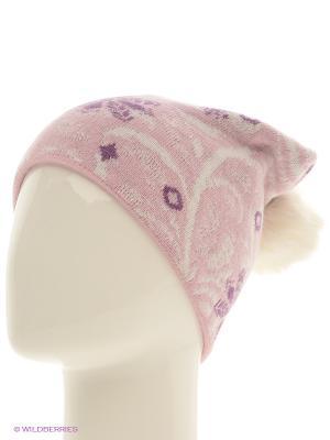 Шапка Marhatter. Цвет: розовый, белый