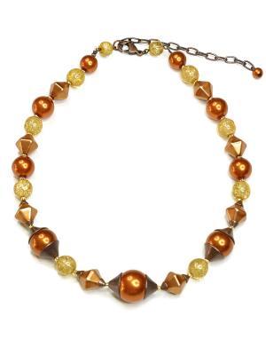 Ожерелье Bohemia Style. Цвет: светло-коричневый