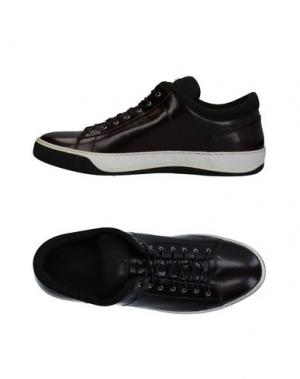 Низкие кеды и кроссовки LUCIANO PADOVAN. Цвет: баклажанный