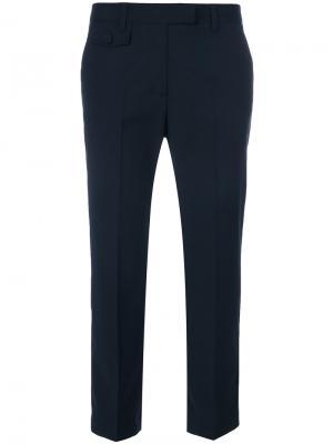 Классические укороченные брюки Semicouture. Цвет: синий