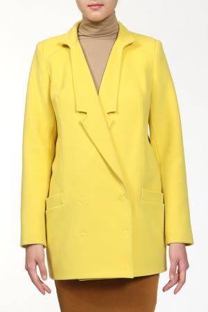 Пальто Анора. Цвет: лайм