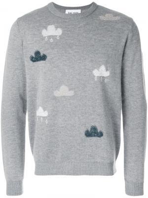 Джемпер с вышивкой Cloud Jimi Roos. Цвет: серый