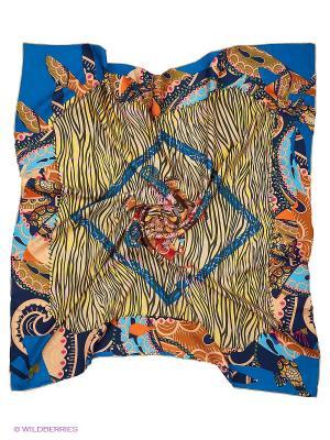 Платок Moltini. Цвет: бежевый, синий
