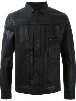 Джинсовая вощеная куртка Hl Heddie Lovu. Цвет: чёрный