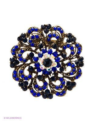 Брошь Lovely Jewelry. Цвет: золотистый, синий