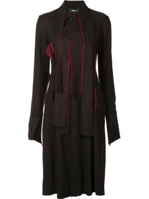 Платье-рубашка до колена Yang Li. Цвет: чёрный