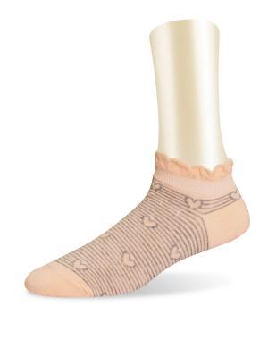 Носки, 2 пары Glamuriki. Цвет: персиковый