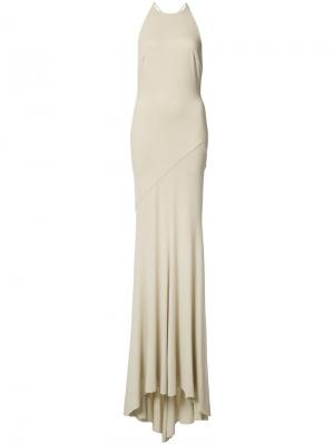 Open back fitted gown Alexandre Vauthier. Цвет: телесный
