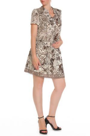 Платье Liu Jo. Цвет: бежевый