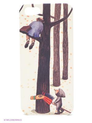 Чехол для IPhone 5 Малыш и дерево Mitya Veselkov. Цвет: бежевый, черный