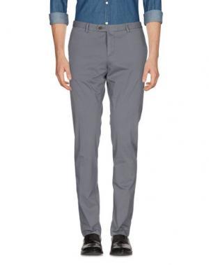 Повседневные брюки MAESTRAMI. Цвет: свинцово-серый