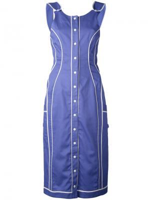Платье Lady Work Richard Malone. Цвет: синий
