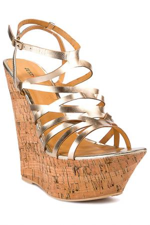 Wedges JUSTFAB. Цвет: gold