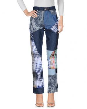 Джинсовые брюки JAMES LONG. Цвет: синий