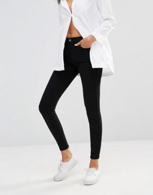 Dr Denim Супероблегающие джинсы с классической талией Lexy. Цвет: черный