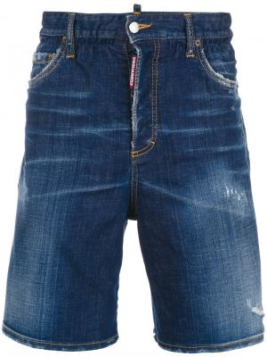 Distressed denim jeans Dsquared2. Цвет: синий