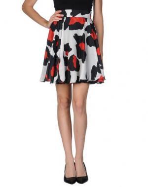 Мини-юбка TOMASO. Цвет: светло-серый