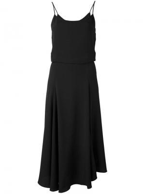 Расклешенное платье на бретельках Vanessa Bruno. Цвет: чёрный