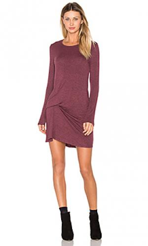 Платье с защипом спереди olive Riller & Fount. Цвет: сиреневый