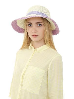 Шляпа Migura. Цвет: белый, сиреневый, фиолетовый