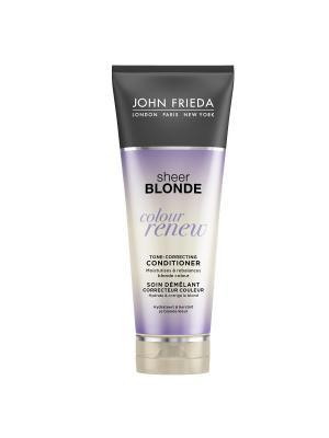 Кондиционер для восстановления и поддержания оттенка осветл волос Sheer Blonde Сolour Renew, 250 мл John Frieda. Цвет: сиреневый