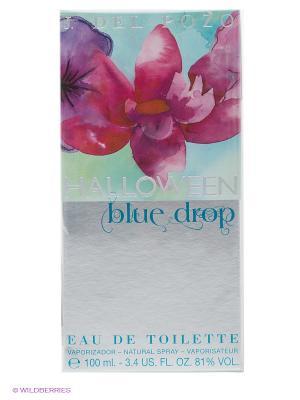 Туалетная вода Halloween Blue Drop, 100 мл. Цвет: серый, голубой, розовый