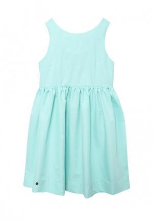 Платье Button Blue. Цвет: бирюзовый