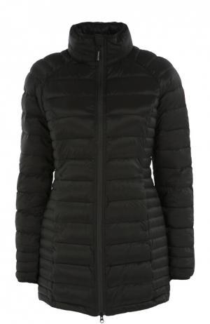 Приталенная стеганая куртка с высоким воротником Canada Goose. Цвет: черный