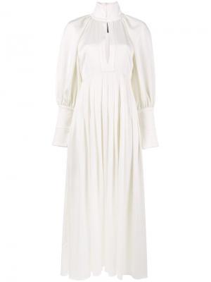 Платье с высокой горловиной  Contained Ellery. Цвет: белый
