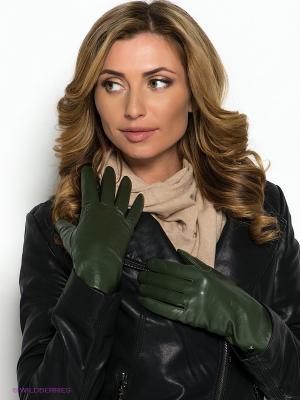 Перчатки Piero. Цвет: темно-зеленый