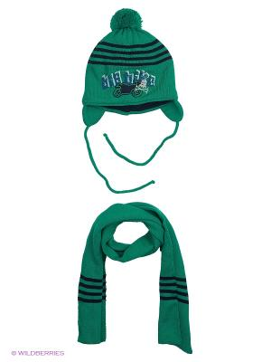 Шапка и шарф Grans. Цвет: зеленый
