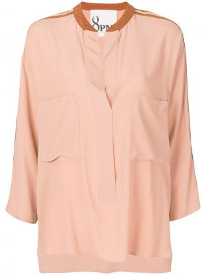 Блузка с отделкой металлик 8pm. Цвет: розовый и фиолетовый
