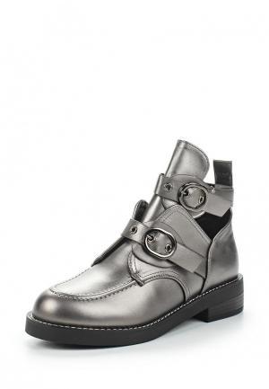 Ботинки Vivian Royal. Цвет: серебряный