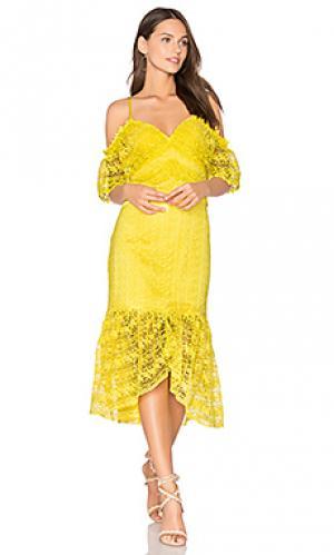 Платье starry eyed Three Floor. Цвет: желтый