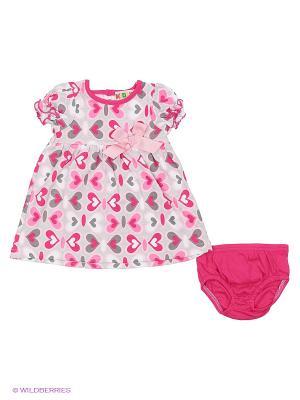 Комплект одежды Kidly. Цвет: розовый, серый