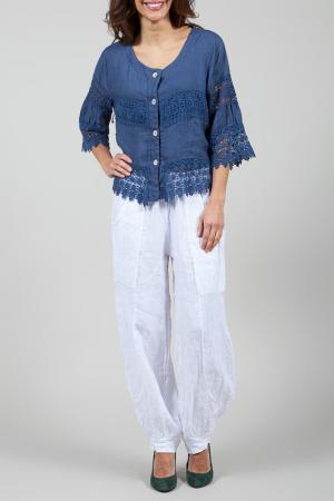 Блуза La Belle Helene. Цвет: синий