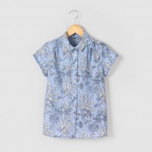 Рубашка с тропическим рисунком, 10-16 лет La Redoute Collections. Цвет: рисунок тропики