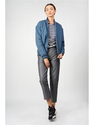 Легкая куртка-бомбер BURLO. Цвет: синий