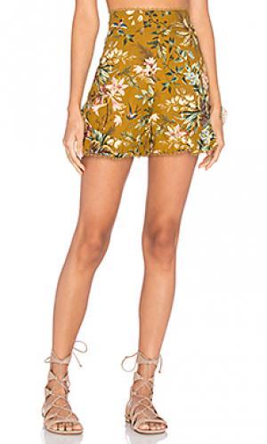 Расклешенные шорты tropicale Zimmermann. Цвет: желтый