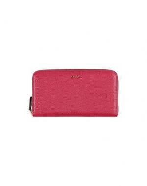 Бумажник BALLY. Цвет: пурпурный