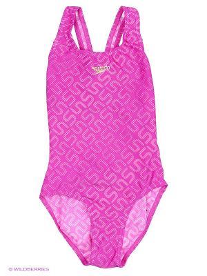 Слитный купальник Speedo. Цвет: розовый
