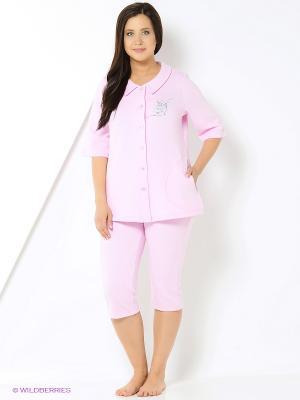 Домашний костюм Forus. Цвет: розовый