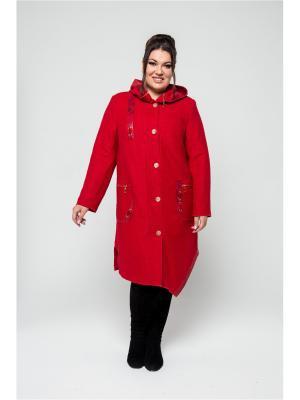 Пальто KR. Цвет: красный