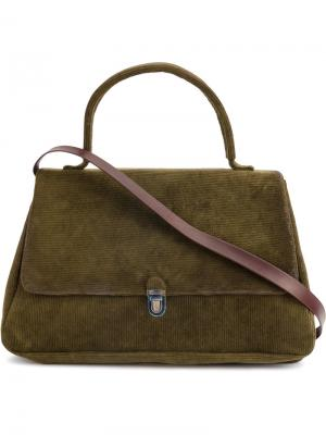 Ребристая фактурная сумка на плечо Cherevichkiotvichki. Цвет: зелёный