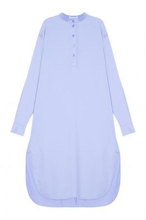 Платье-рубашка Masterpeace. Цвет: голубой