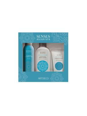 Набор подарочный серия Skin purity: гель для душа, лосьон тела, крем-маска рук ARTDECO. Цвет: белый