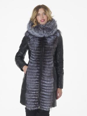Утеплённое пальто OSTRICH. Цвет: черный